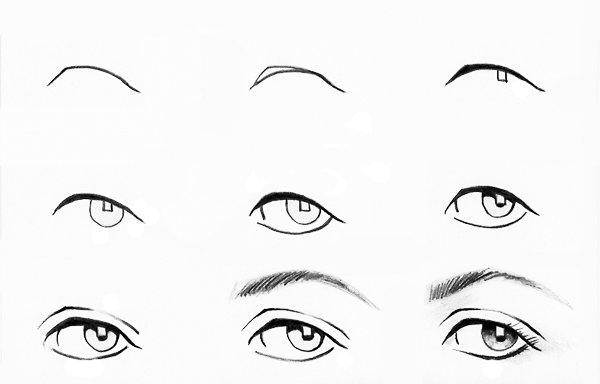 Рисовать глаза поэтапно карандашом в картинках 11