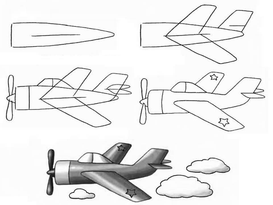 Военные самолеты нарисовать