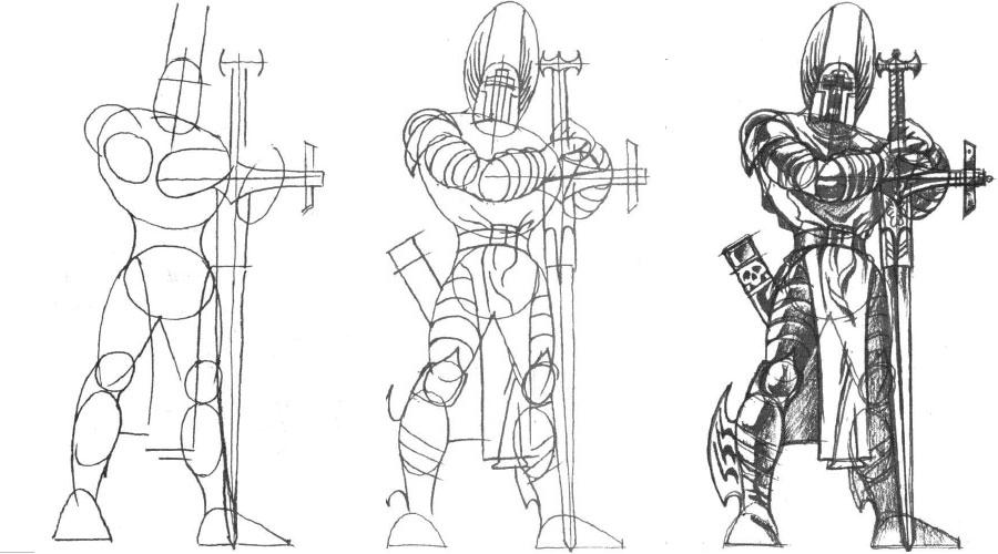 нашем уроки ресавание как нарисавать рыцаря выпускаемое применением этих