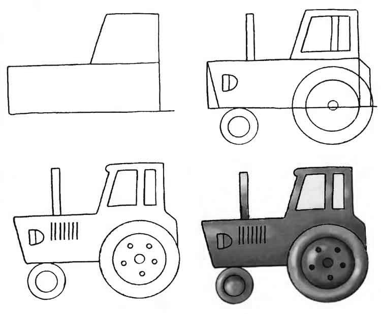 Рисовать тракторами