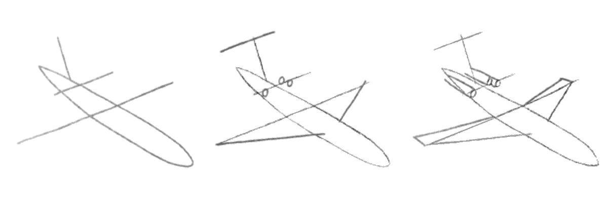 Як намалювати літак? - уроки малювання