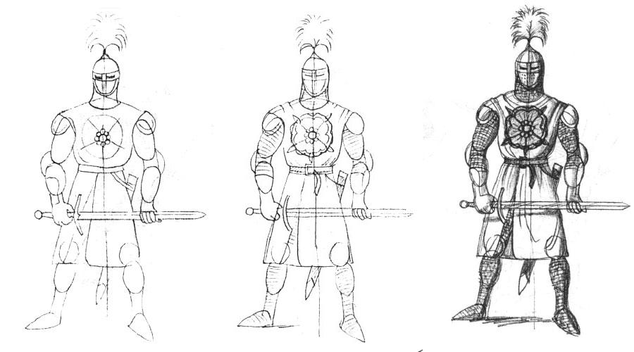 уроки ресавание как нарисавать рыцаря функциям Основные
