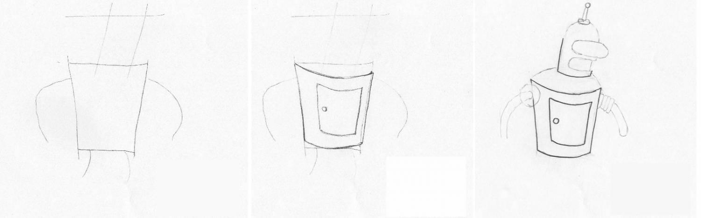 Як намалювати робота? - уроки малювання