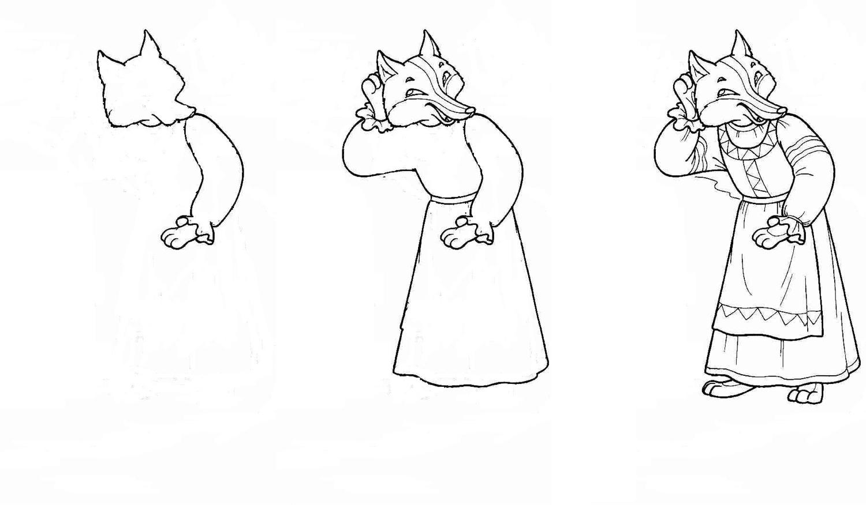 рисунки из сказки лиса и тетерев