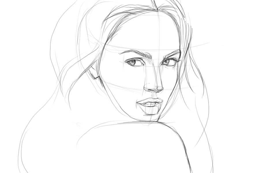 Как научится рисовать портрет карандашом для начинающих с
