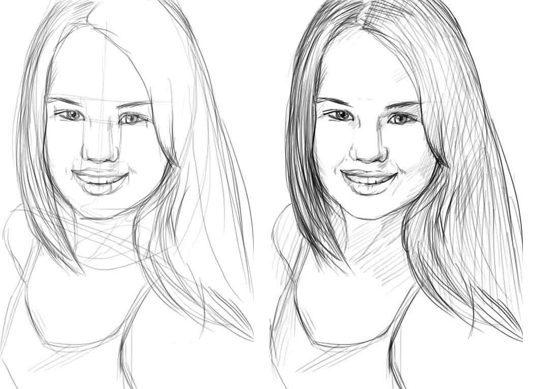 Портрет нарисовать поэтапно для начинающих