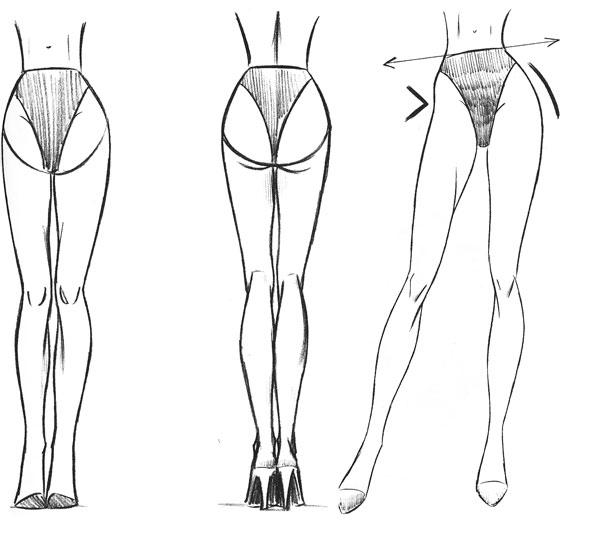 Как рисовать нога моделям