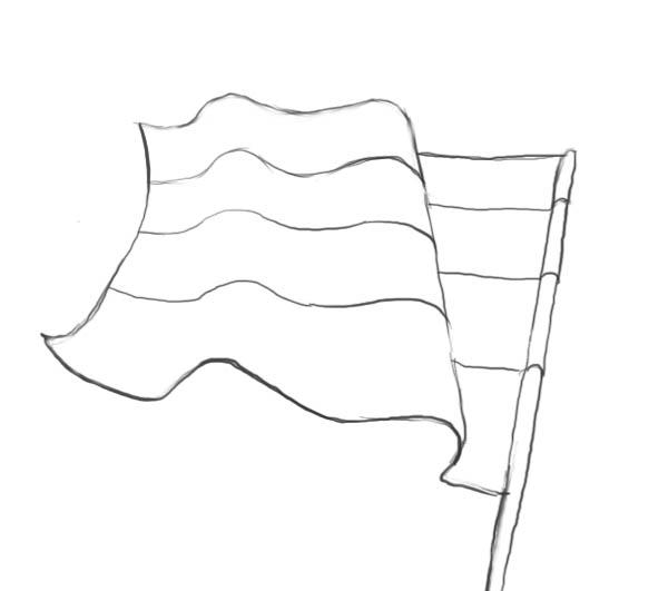 Как нарисовать флаги карандашом поэтапно