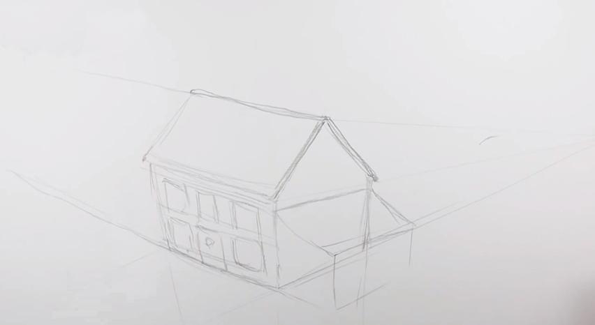 Дом своей мечты рисунок карандашом 22